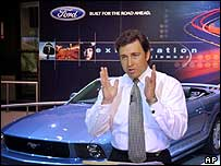 Mark Fields, president of Ford's operations in the Americas at the LA motor show