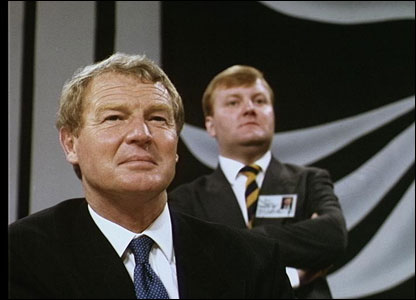 Paddy Ashdown and Charles Kennedy at a party conference in 1993