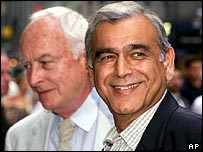 Ismail Merchant (right) with film-making partner James Ivory