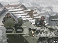 Eufor soldiers near Rogatica, Bosnia