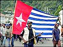 Papua Morning Star flag (file photo)