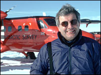 Chris Rapley in Antarctica.  Image: British Antarctic Survey