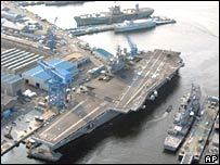 USS Kitty Hawk in Yokosuka