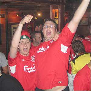 Liverpool fans in Barcelona
