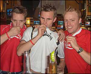 Liverpool supporters in Plymouth