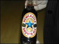 Commemorative bottle of Newcastle Brown Ale