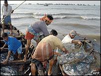 Fisherman in India