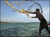 Fisherman in India