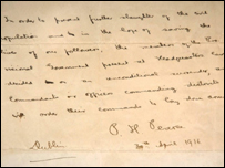 Patrick Pearse wrote letter of surrender in 1916