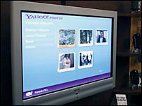 Yahoo on a TV