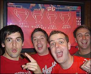 Liverpool fans in Wimbledon