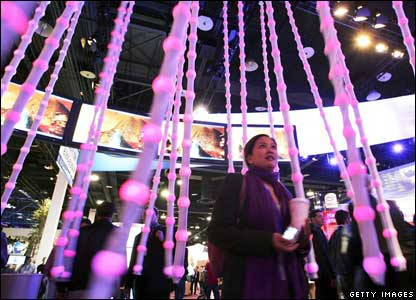 Conference goers at CES, Getty Images