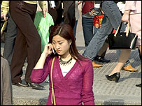 Mobile phone user in China
