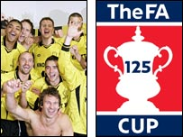 Burton Albion and FA Cup graphic