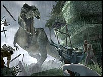 Dinosaur screenshot from King Kong