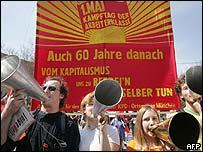 German trade union rally