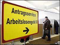 German unemployment exchange