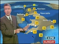 New BBC weather map