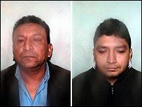 Jesus Anibal Ruiz-Henao (left) and brother-in-law Mario Tascon
