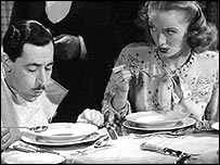 Scene from Watch that Faux Pas, a BBC programme on etiquette, 1947