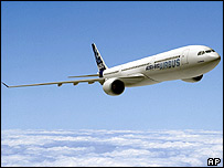 Artist's impression of the forthcoming Airbus A350