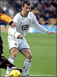 Leeds midfielder Liam Miller