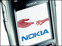 Nokia phone screen