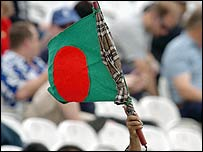 A Bangladeshi fan shows his allegiance at Lord's on Thursday