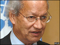 Kenyan lawyer Yash Gai, new special representative of UN Secretary-General Kofi Annan for human rights in Cambodia