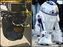 New sensor equipment and the Star Wars robot R2D2