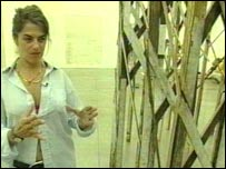 Tracey Emin with rollercoaster