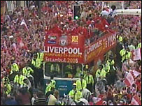 Liverpool Football Club on victory parade