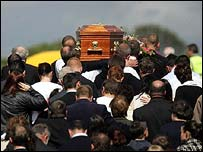 The scene at the funeral of Deirdre Scanlon on Thursday
