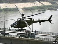 Archive picture of US OH-58 Kiowa helicopter in Baghdad
