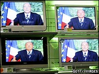 Jacques Chirac appears on TV