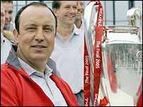 Rafa Benitez with the European Cup