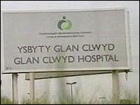 Glan Clwyd hospital sign