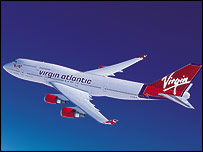 Virgin Atlantic 747 aircraft