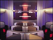 Virgin Atlantic's upper class suite