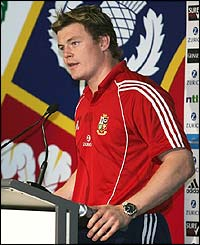 O'Driscoll faces the press