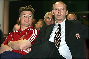 O'Driscoll and Sir Clive Woodward
