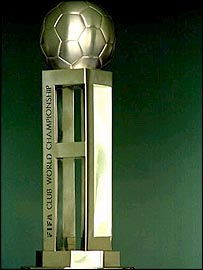 The Club World Championship trophy