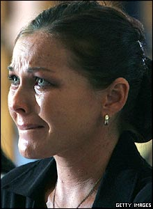 Schapelle Corby bursts into tears as she is sentenced to 20 years in jail in a Denpasar courtroom on Friday, May 27, 2005