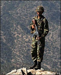 Pakistani soldier in North Waziristan