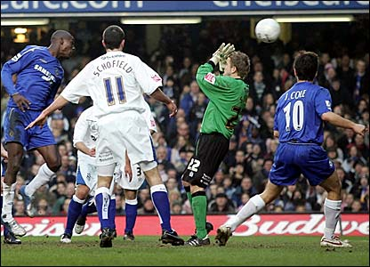 Carlton Cole scores for Chelsea against Huddersfield
