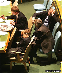 Delegates during one UN session
