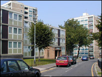 The Woodberry Down estate in Hackney
