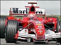Michael Schumacher at the European Grand Prix