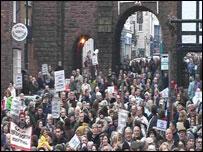Protest in Bridgnorth