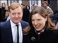 Charles Kennedy, with wife Sarah ahead of his resignation on Saturday